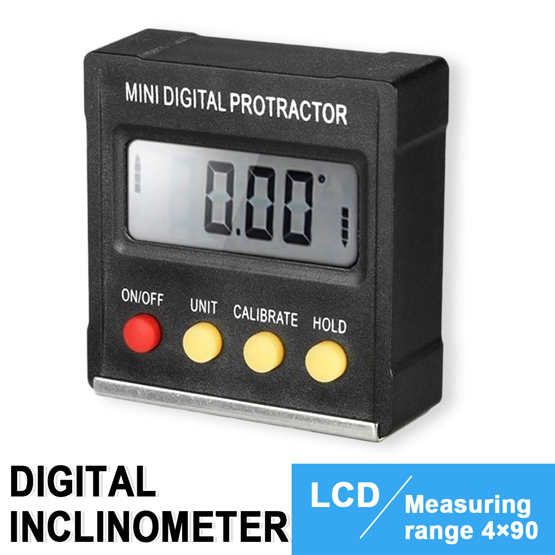 Portable Gauge Mini Digital Protractor Inclinometer Angle Finder 360 Degree
