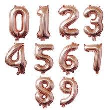 Número do arco-íris balão feliz aniversário decoração digital balões da folha de casamento balões decoração de presente de natal balões de festa