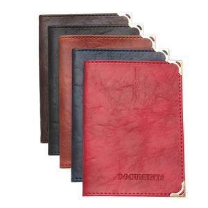 Vintage Auto Driver License Cover Unisex Formal Bag PU Leather Solid Cover For Car Driving Documents Card Credit Holder Case