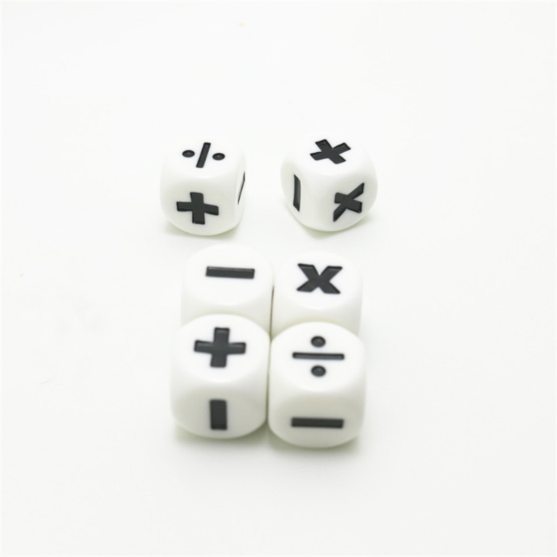 6 PCS Addition And Subtraction Symbol Dice Operation Assistant Props Multiplication And Division Dices