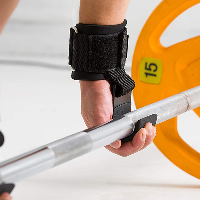 Weight Lifting Hook Grips With Wrist Wraps Hand-Bar Wrist Strap  Gym Fitness Hook Weight Strap Pull-Ups Power Lifting Gloves 5
