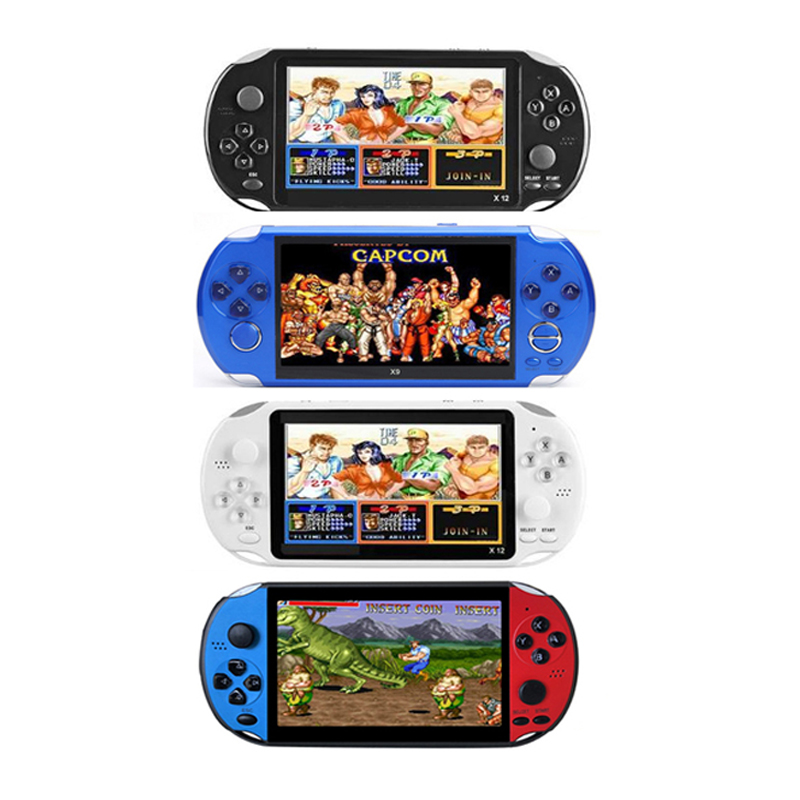 X12 5.1 inch Handheld Game Video Player 8G 16G LED Screen Built-in 2500/3000 Games X9 X12PLUS Retro Consoles Support TF Card