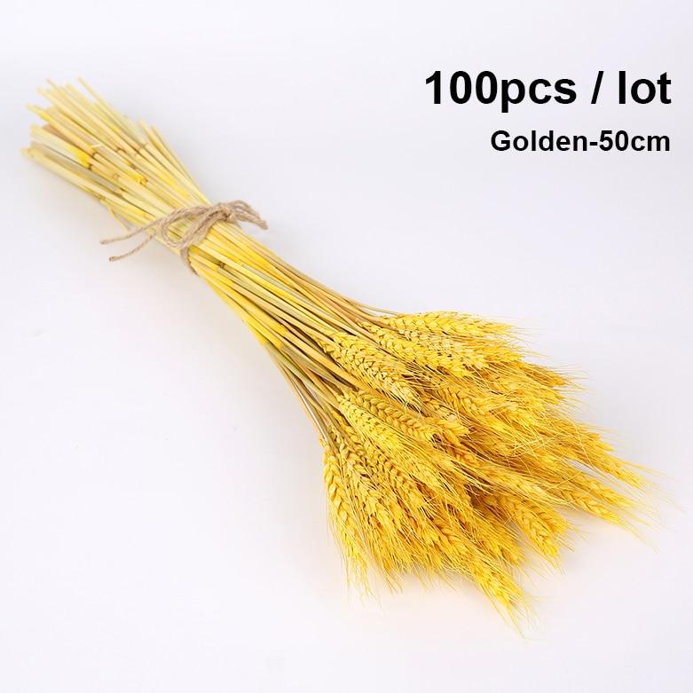 100pcs-Gold-50cm