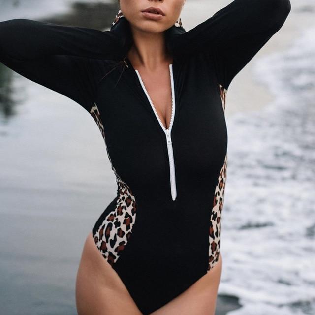 Nylon Swimsuit High Neck