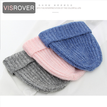 VISROVER 8 colorsways cashmere Beanie with mix color yarn Winter Hat Women Knit