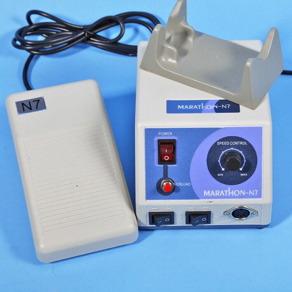 Dental Lab Marathon N7 Motor Micromotor Machine 35K Rpm Pedal Foot Controller