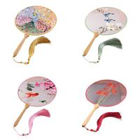Chinese Cultural Beautifully Made Double Hand Embroidery Fans Palace Style Gifts Bride Wedding Bouquets Bouquet Mariage