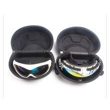 Лыжный футляр для очков антистрессовый износостойкий футляр для очков на молнии черные лыжные очки коробка для хранения портативная коробка