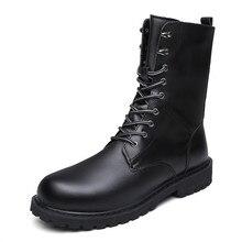 Военные ботинки; Мужская зимняя обувь; теплые мужские кожаные ботинки; ковбойские тактические ботинки; мужская повседневная обувь
