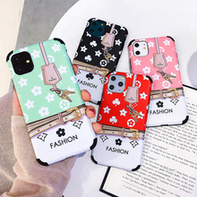fashion pattern For iPhone 11 Pro max X XR XS Max 7  7Plus 8 8P soft Four corners to prevent falling