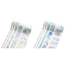 Masking-Tape 10pcs No.-5 NO.6 Paper-Stickers Scrapbooking DIY Gold Japanese Chinese-Style