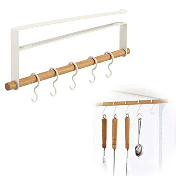 1 Set Cabinet Bathroom Shelves Kitchen Organizer Hanger Hooks Plug-in Hanger For Spoon Shovel Towel Holder Racks Kitchen Tools