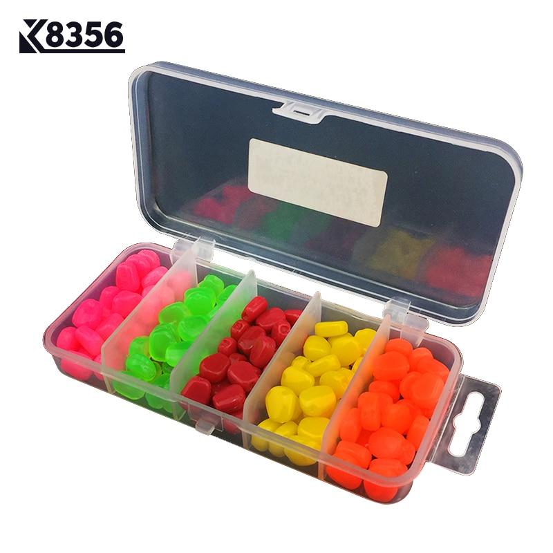 K8356 PVC Simulation Corn Fishing Lures Set Soft Bait Smell Carp Artificial Bait Fishing Tackle Accessories Multicolor