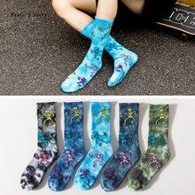 Новинка 2020 модные мужские и женские носки хлопковые цветные