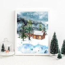 Настенная Картина на холсте Рождественская тема настенные картины