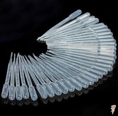 10Pcs 3ML Laboratory Tools Pipettes Plastic Disposable Graduated Pasteur Pipette Dropper Polyethylene Makeup Tools