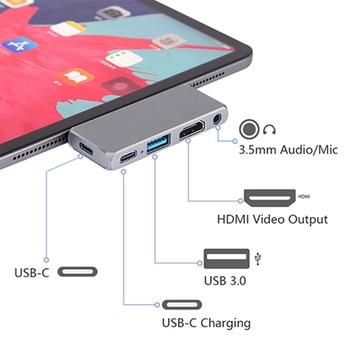 USB C HUB to  HDMI USB 3.0 HUB for iPad Pro Type C HUB for MacBook Pro Docking Station Multi Port Type-C HUB for Nintendo Switch data frog hdmi type c adapter for nintend switch hub usb c to hdmi mini dock station hd transfer for macbook xiaomi laptop phone