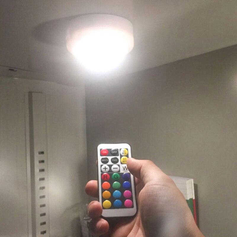RGB Беспроводная хоккейная лампа для шкафа свет 2800K Цветовая температура ABS проводка ночник с дистанционным управлением переносной фонарик V3