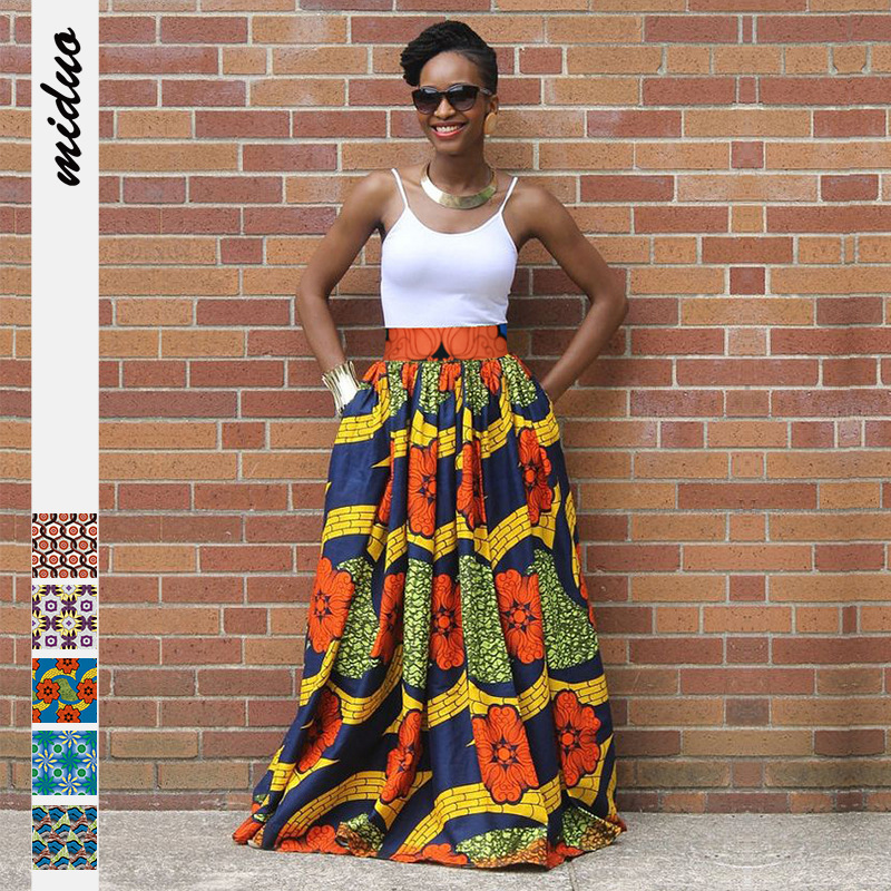 African Clothes Dashiki Dresses For Women Skirt Long Ankara