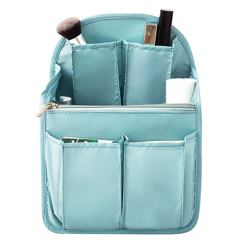 Backpack Insert Bag Internal Storage Bag Diaper Bag Large Capacity Travel Storage Bag Shoulder Bag Sky Blue