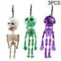 3 шт. украшение на Хэллоуин, страшный скелет, тянущийся реквизит, смешанные цвета, пластиковые спутанные оправы скелета, детские игрушки #30
