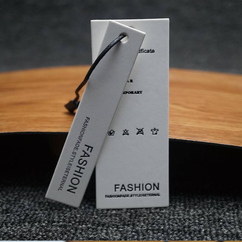 Custom Garment Apparel Dress Cardboard Label & Paper Hang Tag