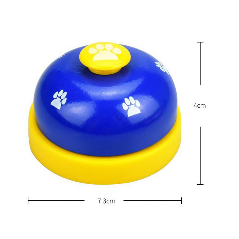 Pet Call Bell Dog Toys IQ Training Dog Cat Feeding Ringer Educational Toy Pets Toys Interactive Bell Eating Food FeederNew-5