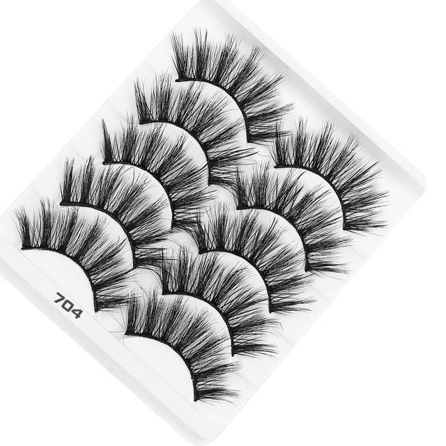 AY 5 Pairs Beauty lashes Eyelashes Mink 2020 New 3D Mink lashes Womans Makeup Tools Wholesale Eeyelashes Mink lash Vendors 1