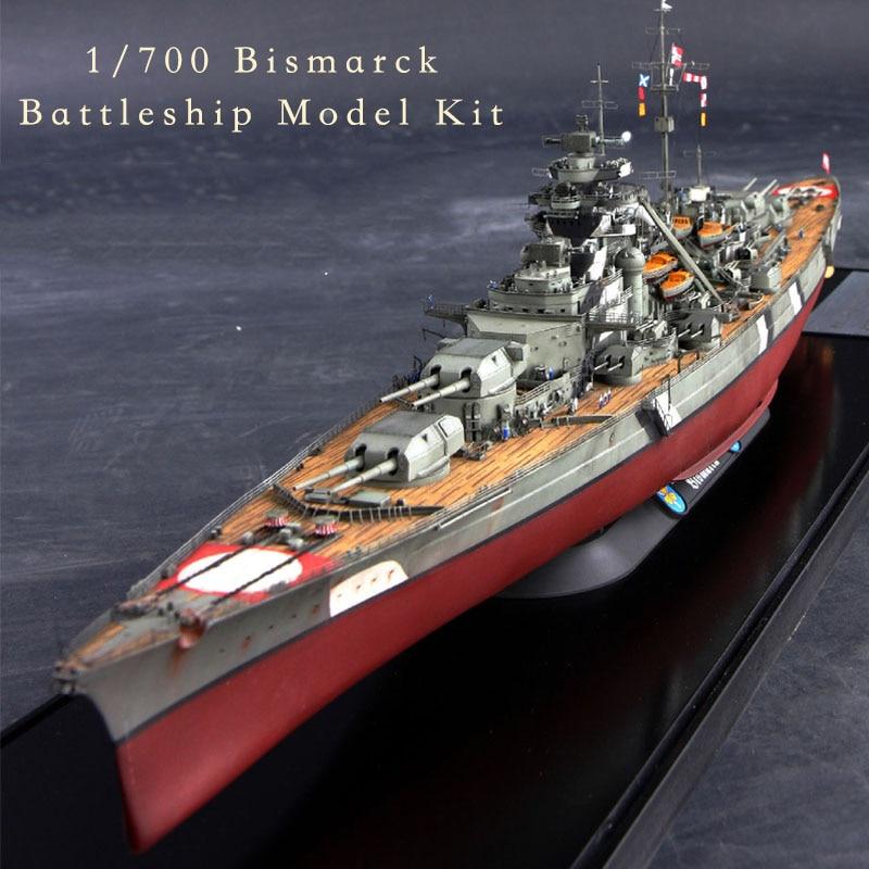 Trumpeter Meng Flyhawk 1/700 World War II German KM Bismarck Battleship Navy War Battle Ship Plastic Assembly Model Kit