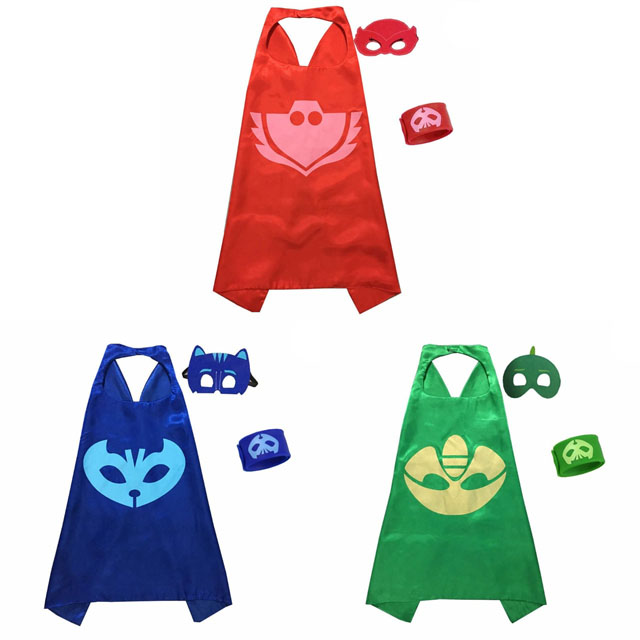 PJ Masks Anime Party Children Mask Cloak Cartoon Figure Birthday  Gift For Boys And Girls Halloween Cosplay ApparelParty Masks   -