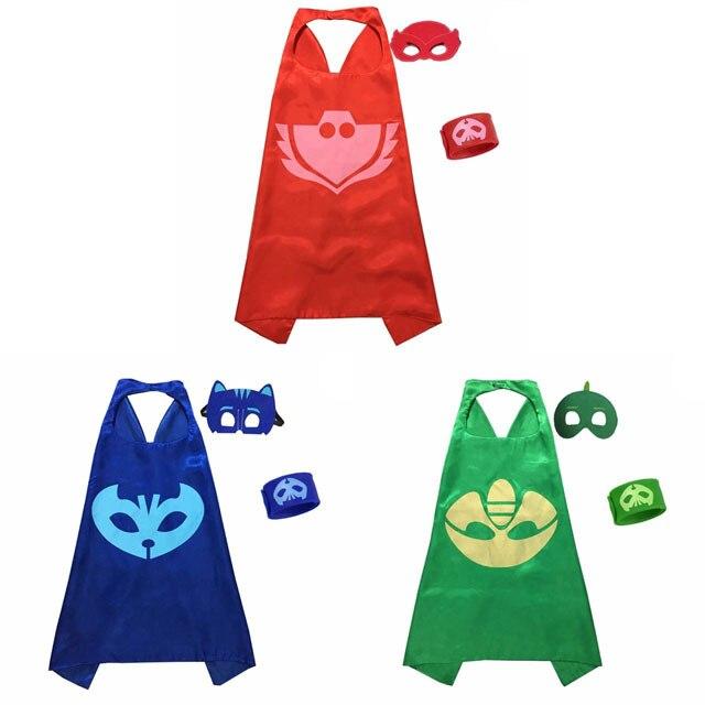 PJ Masks Anime Party Children Mask Cloak Cartoon Figure Birthday Gift For Boys And Girls Halloween Cosplay Apparel