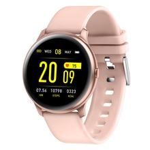 2019 Kw19 Women Smart Watch Waterproof Blood Oxygen Heart Rate Monitor Men Fitness Tracker Sport Smartwatch  For Ios Android