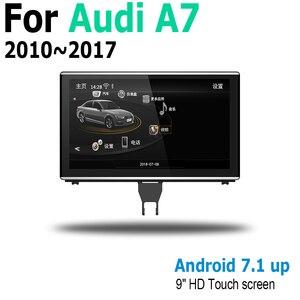 Image 4 - Radio Multimedia con GPS para coche, Radio con reproductor, Android 9,0, 4 + 64, navegador, pantalla táctil, estéreo, para Audi A7 4G8 2010 ~ 2017 MMI