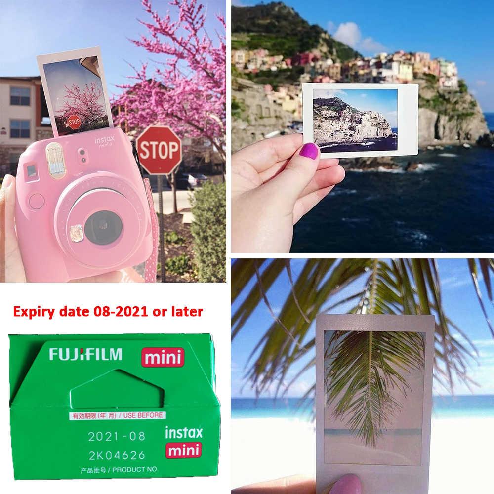 Mới 6 Màu Ngay Fujifilm Instax Mini 9 + 50 Ảnh Fuji Ngay Mini 8 Gọng Trắng Phim + miễn Phí 20 Miếng Dán & Bút