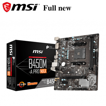 Original MSI B450M A PRO MAX Motherboard Micro-ATX Suit Socket AM4 Suit Core Boost, Turbo M.2, USB 3.2 support desktop mainboard image