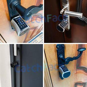 Image 5 - スマートシリンダーロックヨーロッパスタイル電子ドアロックデジタルキーパッドコード rfid カードキーレス電気錠安全家庭用