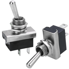 Miniature On Off Small Toggle Switch Heavy Duty with Waterproof Cover 12V 25A Fits 12.5mm Hole