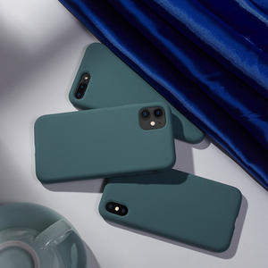 Pine Green Original Liquid Silicone Case For iPhone 11 Case Full Protective Cover For