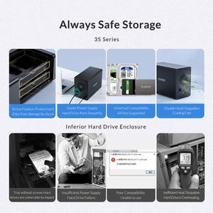 Image 2 - ORICO 80TB 5 Bay Enterprise HDD Docking Station With Dual Chip 150W Built in Power Hard Drive Case For 2.5 3.5 Inch Hard Drives
