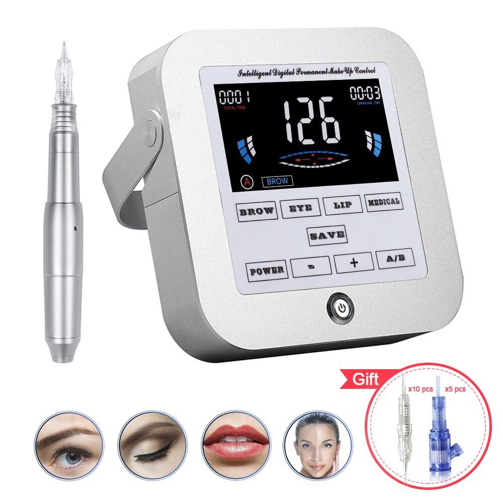 Biomaser nova máquina de maquiagem permanente sobrancelha tatuagem profissional dispositivo digital máquina sobrancelha lábio caneta máquina define CTD003-2