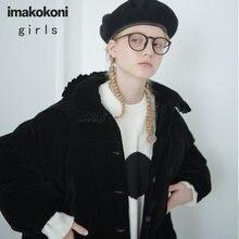 Imakokoni черная супер толстая пуховая куртка женское свободное