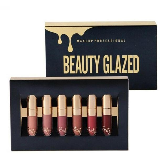6PCS Matte Liquid Lip Gloss Set Beauty Glazed Birthday Edition Lipstick Kit Easy to Carry Long lasting With Matte Effect 1