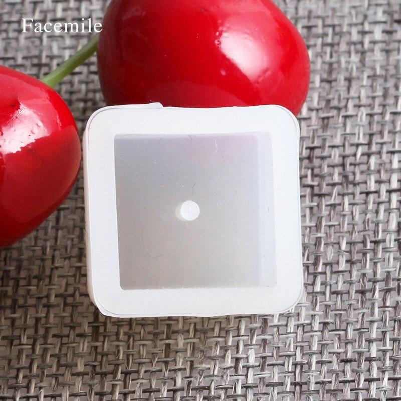 Круглые 3шт квадрат из бисера ювелирные изделия делая ручной плесени перфорированные плесень DIY силиконовые формы Кристалл клей эпоксидный бусины