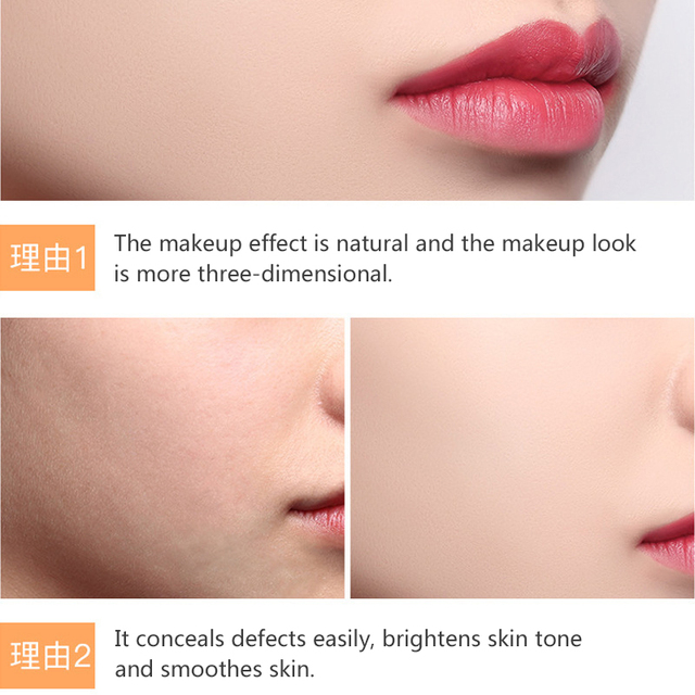 Transparent Pressed Powder Long Lasting Oil Control Face Foundation Waterproof Whitening Skin Finish Concealer 2