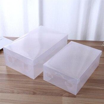6pcs Transparent Shoe Box Storage Clear Plastic Shoe Boxes Foldable Shoes Case Holder Shoebox Transparent Shoes Organizer Boxe