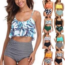Сексуальное бикини 2020 Mujer женский купальник бикини для женщин купальник с оборками, ванный комплект, пуш-ап, купальник для женщин, пляжная од...