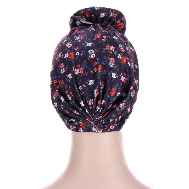 Фото новый цветочный тюрбан шляпы для женщин химиотерапия рак головные