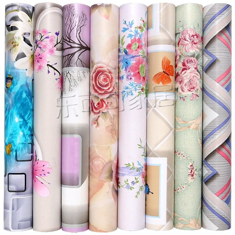 10m*45cm Wallpaper 3D Living Room Bedroom Romantic TV Film Wall Decoration European Family Wall Paper Furniture Cartoon Flowers