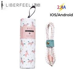 Liberfeel Maoxin lighting kabel usb do iphone'a 8pin animal kolorowy ładny pakiet kabel do ładowania daty