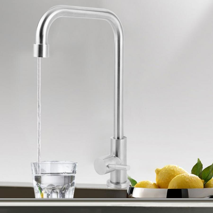 2inch Stainless Steel Kitchen Sink Vertical Cold Water Tap Single G1